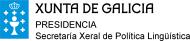 Xunta de Galicia - Presidencia - Secretaría Xeral de Política Lingüística