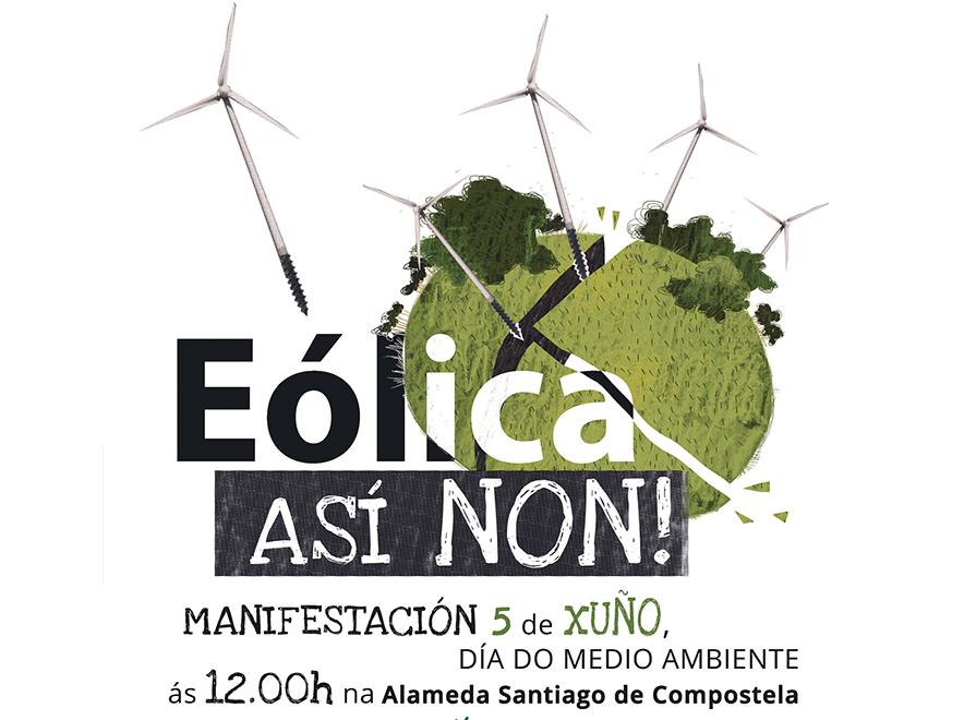 Marcha contra os eólicos